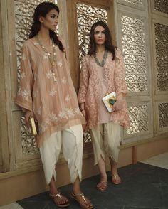 Pakistani ensembles by Misha Lakhani. Indian Fashion Trends, Ethnic Fashion, Asian Fashion, Latest Pakistani Fashion, Gypsy Fashion, Latest Fashion, Kurta Designs, Indian Attire, Indian Wear