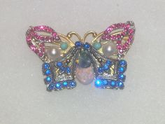 Colorful Steampunk Butterfly Pendant