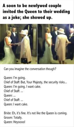 Funny Pictures Of The Day  40 Pics [and the poor bride trying to remember how to curtsy. but if you're English maybe it's not so easily forgotten, they teach them there (you know, just in case the Queen comes to visit...lol) jh]