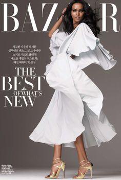 walkingthruafog:  Liya Kebede for Harper's Bazaar Korea