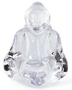 Glass Buddha Sculpture