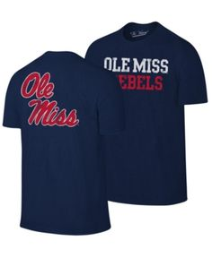 d0dfbb98f61 Retro Brand Men s Ole Miss Rebels Team Stacked Dual Blend T-Shirt - Red S