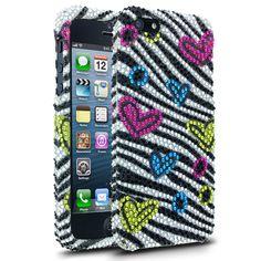 Diamond Heart Zebra Phone Case for Apple iPhone 5 - $29.99 - #ZebraPrint #Hearts
