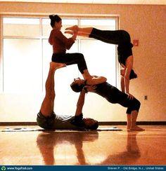4 people  acro yoga goals  pinterest  people yoga and