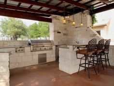 Love the BBQ area in this Florence, #Texas #home