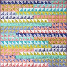 Go with the Flow Quilt Pattern by Emma Jean Jansen. Made using Eureka.