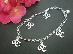 Om Bracelet  Sterling Silver  Jewelry Gift Box by yhtanaff on Etsy, $40.00