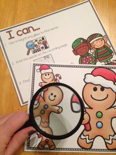 I Spy Christmas - just, print, add a magnifying glass and your December center is ready to go. Differentiation options included.