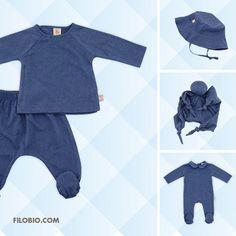 COCO' collection - SUGAR BLUE set, CHAPEAU hat, DOREMI toy, DELICE jumpsuit www.filobio.com