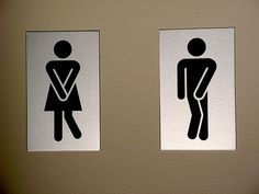 "Ah, universal ""gotta pee"" dance signs - No translation required! Funny Commercials, Funny Ads, Funny Signs, Hilarious, Wayfinding Signage, Signage Design, Design Graphique, Art Graphique, Wc Sign"