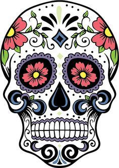 Skulls, calavera, day of the dead sugar skulls Mexican Skulls, Mexican Folk Art, Caveira Mexicana Tattoo, Silhouette Cameo, Silhouette Design, Candy Skulls, Sugar Skulls, Sugar Skull Tattoos, Sugar Skull Drawings