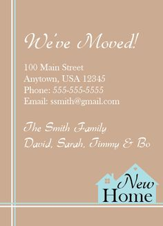 Moving Announcement New Home House (brown) Vintage by NestedExpressions, $20