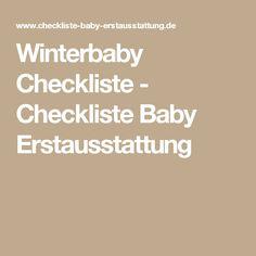 Winterbaby Checkliste - Checkliste Baby Erstausstattung