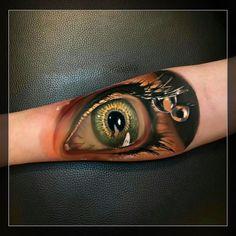 #тату #татуировка #татумастер #реализм #глаз #цветнойреализм #цветнаятатуировка…