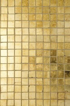 Gold Tile Design Ideas, Pictures, Remodel, and Decor (Ann Sacks - Davlin gold)