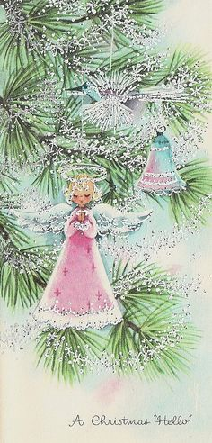 vintage pink christmas cards