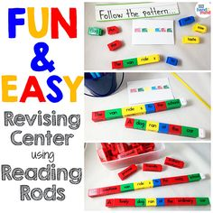 Reading Rods Sentence Construction Cubes For Kids Ages Learn Grammar, Usage And Punctuation, Visual Aid For Parts of Speech And Affixes, Homeschool Supplies (Set of Teaching Sight Words, Phonics Words, Sentence Building, Word Building, Literacy Stations, Literacy Centers, Spelling Activities, Book Activities, Teacher Wish List