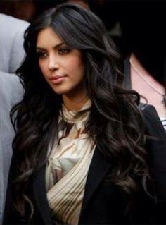 Kim k curly hair