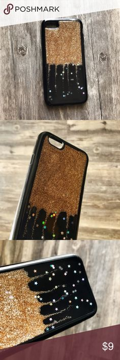 NEW iPhone 7/8 Metallic Gold Glitter Soft TPU Case ▪️Soft TPU Material - Thick Shock-Resistant Rubber    ▪️Gold Glitter With Iridescent Stars    ▪️Same or Next Business Day Shipping ! Kerzzil Accessories Phone Cases