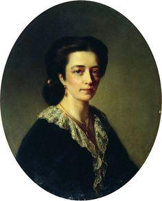 """Маковский Константин Егорович.""""Дама в черном"""" 1864"""
