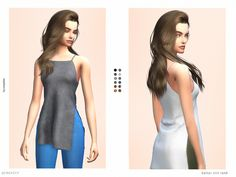 The Sims Resource: Halter Slit Tank by serenity-cc • Sims 4 Downloads