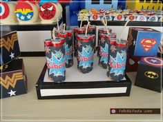 superhero party - I want to make these boxes