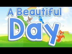 There is beauty all around us everyday and this song is about taking the time to look around each day and recognize the beautiful things in our world that he. Kindergarten Songs, Preschool Music, Fun Songs, Kids Songs, Beautiful Day Song, Good Morning Song, Morning Work, Months Song, Preschool Projects