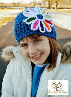 Daisy Petals Girl Scout Hat. I'm in love with this hat. Too cute!