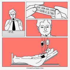 Disfruta la vida sin acabar con ella. Esto es #Salud | Fuente: cinismoilustrado.com