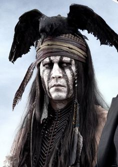 Johnny Deep in Lone Ranger a 2013 American western action film produced by Walt Disney Pictures and Jerry Bruckheimer Films and directed by Gore Verbinski.