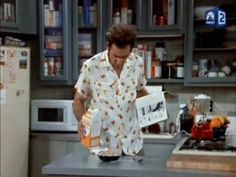 (The Betrayal) - Kramer spills Fruitloops and milk and then sweeps them into Jerry's kitchen drawer - YouTube