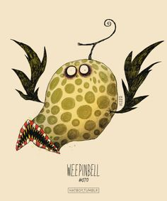 "Weepinbell #070 (2014) from ""The Tim Burton x PKMN Project"" by Filipino artist and illustrator Vaughn Pinpin (aka Hat Boy). via hatboy on tumblr"