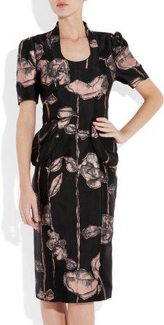 Runway To Green Marc Jacobs Floralprint Silkblend Dress in Floral - Lyst