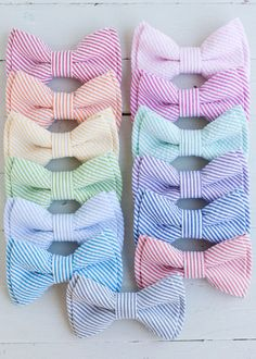 The Beau classic stripe seersucker double by thebelleandthebeau, $22.00 CORAL bottom right they can make matching suspenders set is $44