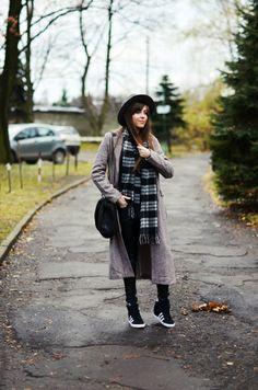 Jestem Kasia: casual, grey coat