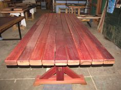 Clear old growth Redwood wine tank staves from Rodney strong.