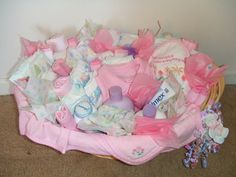 Baby Girl Basket (top view)