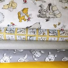 Classic Pooh Abc Alphabet Fabric Quilt Panel Nursery