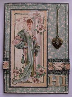 Card: Hi Card - Graphic45 A Lady's Diary - Wendy Schultz ~ Graphic 45 Cards & Layouts.