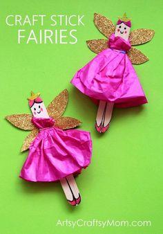 To DIY řemesel Stick Fairy Craft pro děti je za nádherný a je tak snadné. Ujistěte se, že dívat se na instruktážní video taky.