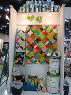 Quilt Market Fall 2012 - Orange Peel Quilt in the Moda Booth