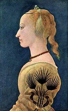 Portrait de femme, vers 1460, Alesso Baldovinetti, Londres, National Gallery