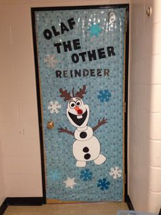 "Frozen Christmas Classroom Door Decoration: Olaf ""Worth ..."