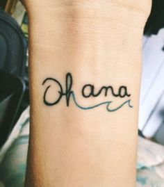 Ohana tattoo with wave