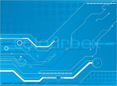 blue circuit board Wall Mural - Vinyl • Pixers® • We live to change ...