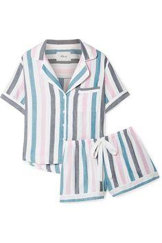 Rails Striped Voile Pajama Set Blue - Pajama Sets - Ideas of Pajama Sets Cute Pajama Sets, Cute Pjs, Cute Pajamas, Pajamas All Day, Girls Pajamas, Pajamas Women, Pajama Outfits, Twin Outfits, Casual Outfits