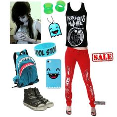 Motionless In White themed scene/emo outfit