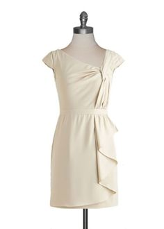 Ivory Sheath Dress.  All is merry and bright!