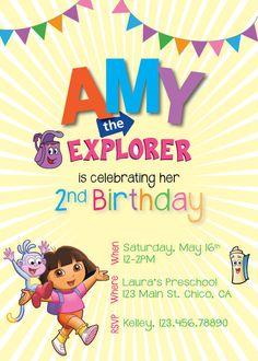 Dora the Explorer Birthday Party by RAWkonversations on Etsy, $12.00