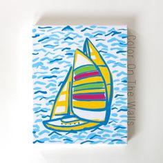 Sailboat Lilly Pulitzer You Gotta Regatta by ColorOnTheWalls, $20.00